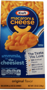 macarrones con queso Kraft